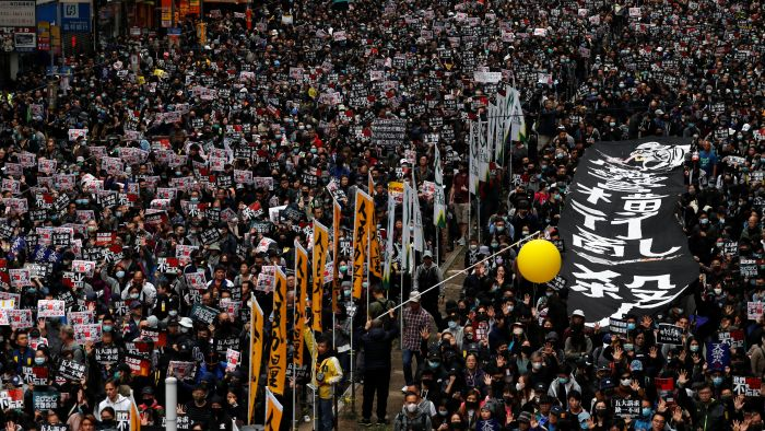 Image result for 香港2020元旦大游行
