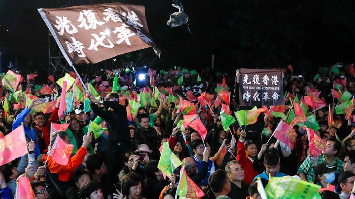 台湾总统大选:蔡英文高票连任