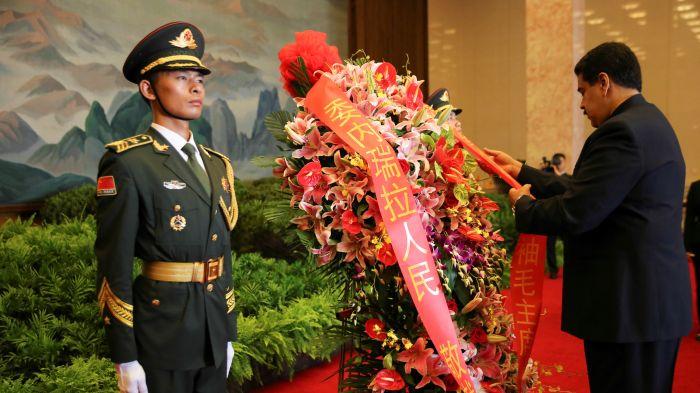 委内瑞拉总统马杜罗在中国朝圣