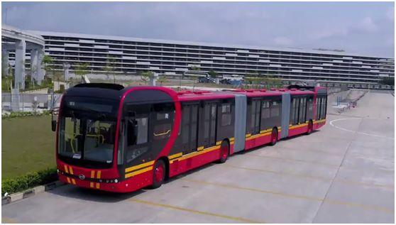 世界最长的电动公交车正前往哥伦比亚