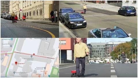 艺术家用装满手机的手拉车在谷歌地图创造交通阻塞