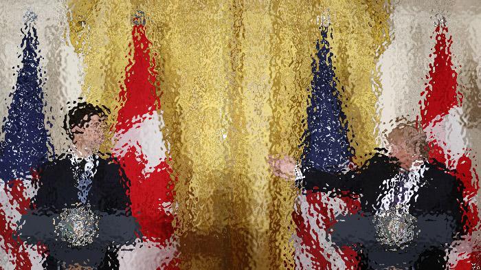 川普会晤加拿大总理特鲁多