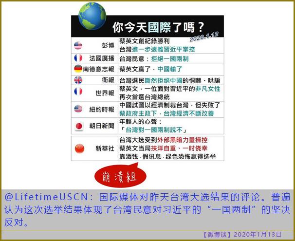 〖微博谈〗Taipei says no to Beijing