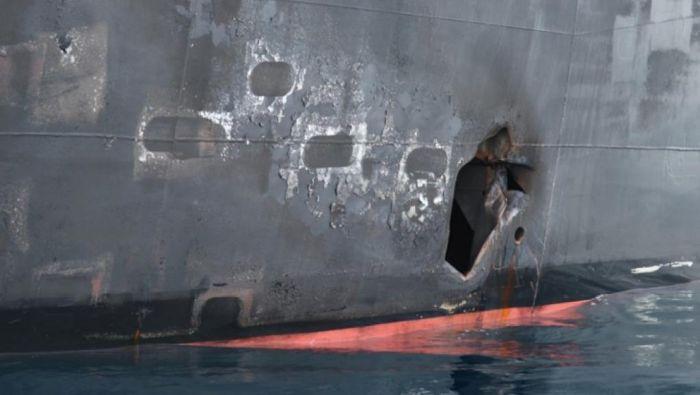 美国向中东增兵千人 公布新照片指伊朗袭两油轮