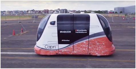 英国开始测试无人监管的自动运输吊舱
